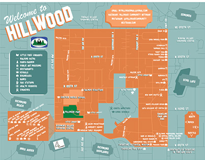 Map Design for Hillwood Neighborhood Association