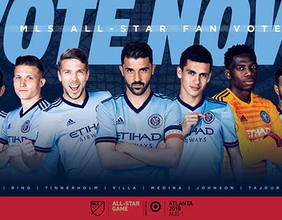 NYCFC 2018 MLS All-Star Game Social Creative