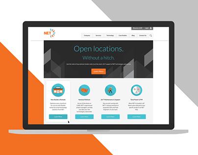 NET - Rebrand and Responsive Website
