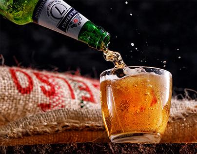 "Photo of tasty Russian beer ""Baltika""."
