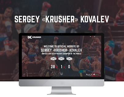 Sergey «Krusher» Kovalev official site