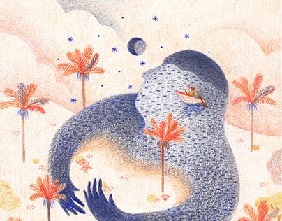 Editorial Illustration - A sea of hugs