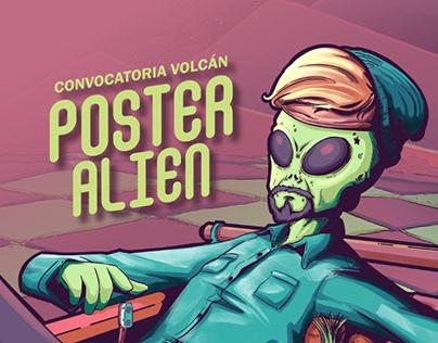 Poster Alien - Convocatoria Volcán