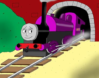Derek the Steam Engine Illustrations