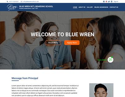 Website Mockup - Blue Wren School
