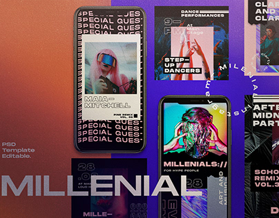 MILLENIAL - Social Media Template