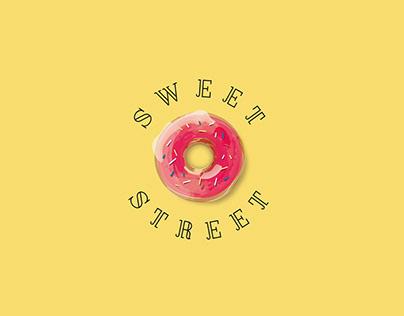 Sweet Street. Donuts & Сroissants logo