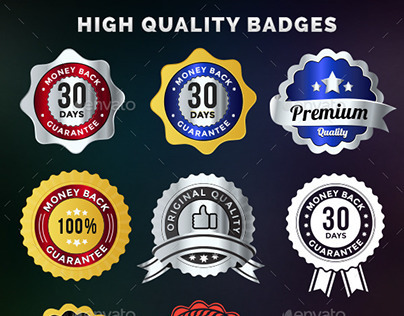 120 High Quality Badges & Seals