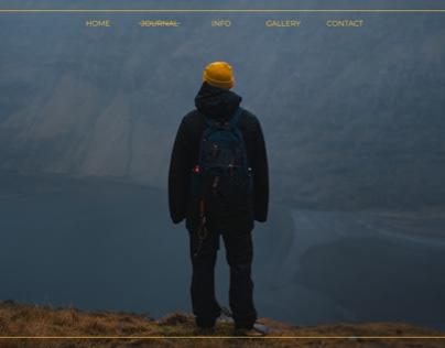Concept Design: Travel Blog Hero Section