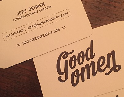 Good Omen Business Cards
