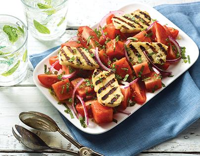 Grilled Halloumi Summer Salad
