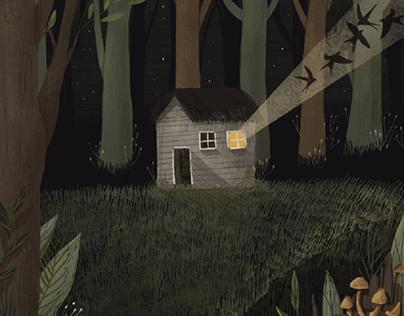 Forest magic illustrations
