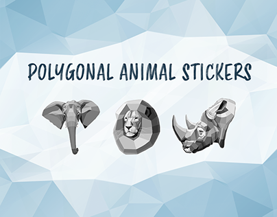 POLYGONAL ANIMAL STICKERS