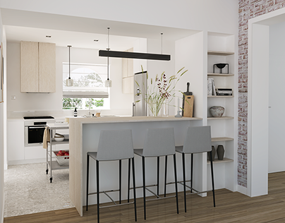 Kitchen renovation in Belgium