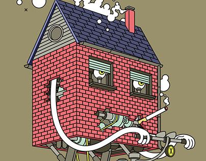 mobile home - illustration