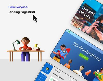 Website Design in 2020 (Interaction Design+Landing page