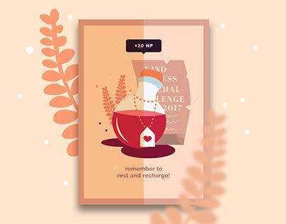 Press Kindness to Start: Poster Series