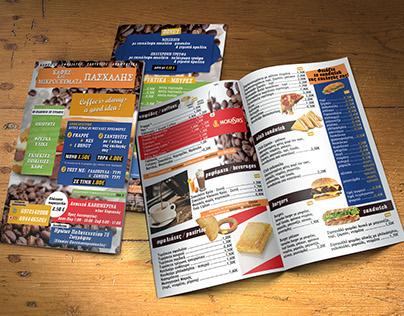 Brochure - Menu for Coffee & Snacks Store