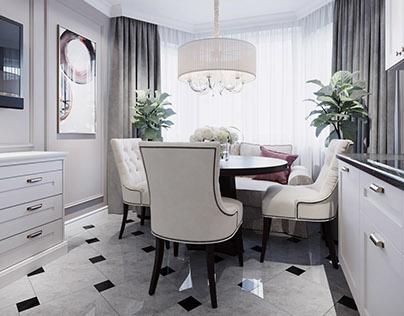 Classic interior design in Minsk