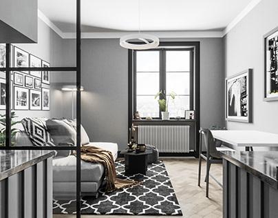 Interior in grey