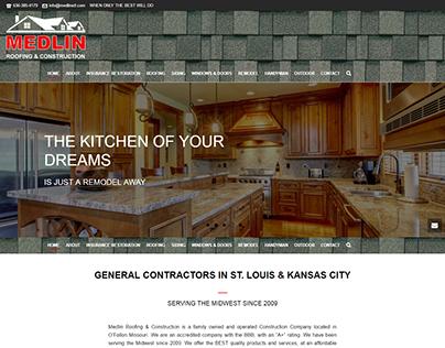 Medlin Roofing & Construction Website Design