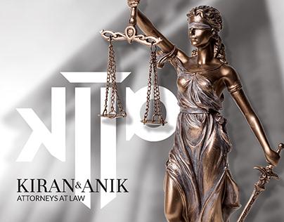 KIRAN & ANIK LAW FIRM | BRAND IDENTITY