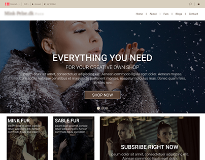 Furs Website Home page