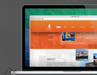 Sanjana Constructions Website Design