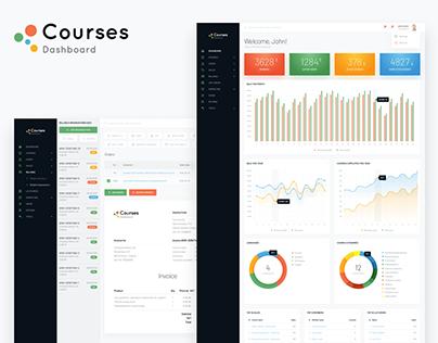 Courses admin dashboard