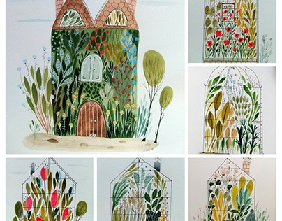 Greenhouses illustration