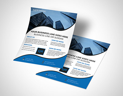 Corporate business flyer (Approved by shutter stock)