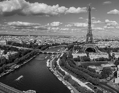 Paris -Black and White