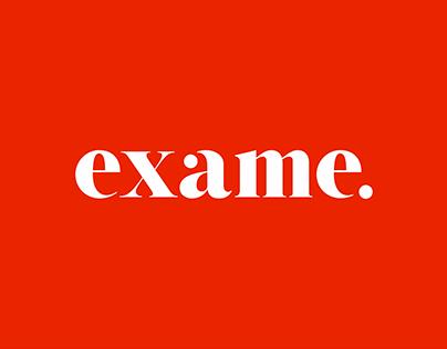 Exame refino tipográfico