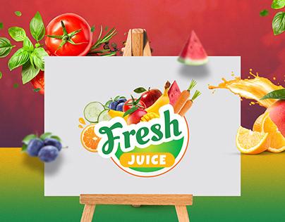 Fresh Juice Protein Logo Design