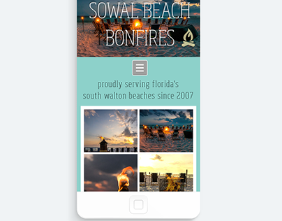 Simple Website Design- Sowal Beach Bonfires