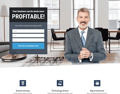 Business Landing Page with WordPress