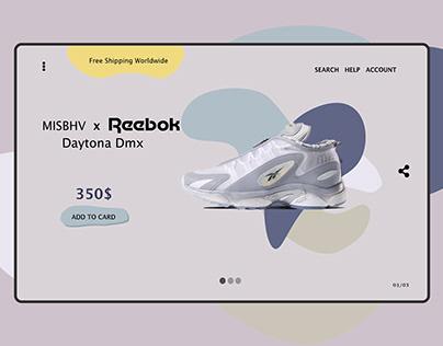Reebok Daytona Dmx Landing Page
