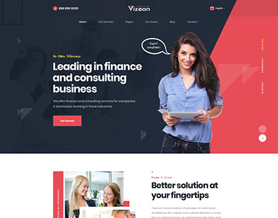 Vizeon - Business Consulting Template