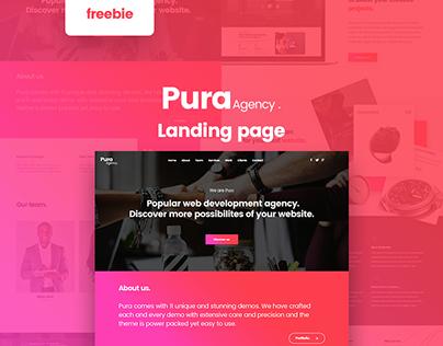 Pura- Free landing page PSD