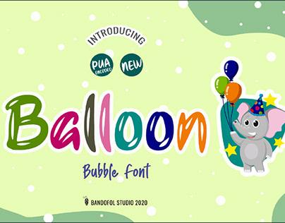 FREE | Balloon Playful Bubble Font