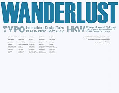 Wanderlust - Typo Berlin 2017 Poster