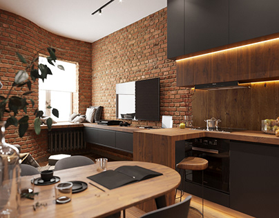 The interior of an apartment