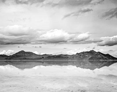 Bonneville Salt Flats in Black and White