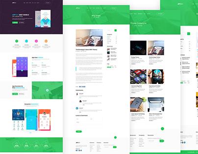 Soft App Landing Page (freebie)