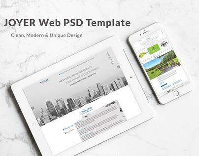 Joyer Web PSD Template