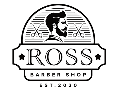 Ross Barber Shop Logo Design