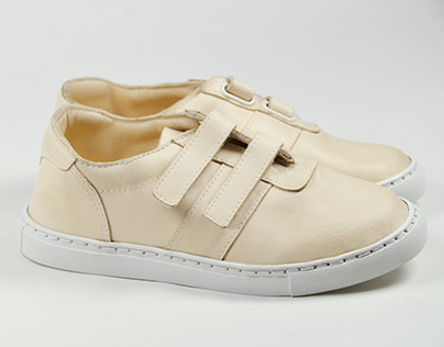 Asymmetrical Nude Sneakers