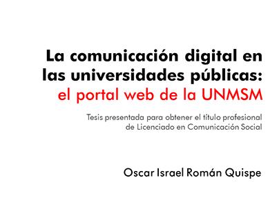 Análisis de portal web de la UNMSM