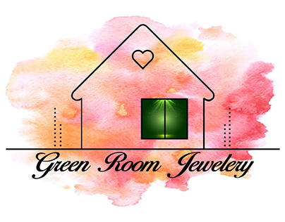 GREEN ROOM JEWELERY (WATERCOLOR BUSINESS LOGO)