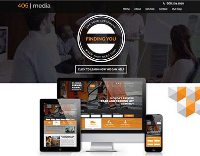 405 | Media Group - Website Design